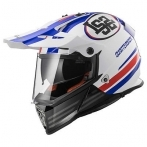 Casco LS2 Pioneer MX436 Quaterback white red blue
